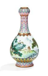 約21億円で落札された花瓶(サザビーズ提供・共同)