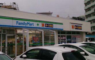 25日に開店する「ファミリーマートふく薬品名護店」=名護市宇茂佐(沖縄ファミリーマート提供)