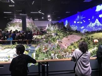 A miniature landscape is seen at Mini World in Lyon, France, in March. Small World Inc. plans to use the French attraction for inspiration in building an amusement park in Tokyo. | SMALL WORLD CEO MASAHIRO KONDO