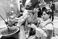 [きょうナニある?]/話題/華やかに1年の精進誓う/京都・池坊で初生け式