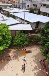 住宅密集地の中にある保育園