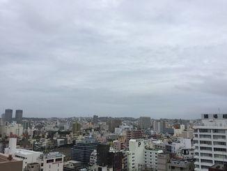 那覇市内の様子(6月15日午前8時30分過ぎ)