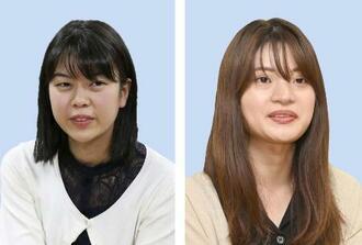 上野愛咲美女流本因坊、藤沢里菜女流名人