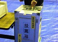 浦添市長選・市議選の投票始まる