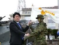 陸自水陸機動団、長崎・相浦で発足式 将来的に沖縄配備構想も