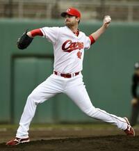 広島のジョンソンが上々の初登板 韓国プロ野球KIAと練習試合