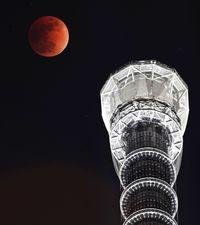 冬空刻々 赤い月/皆既月食 石垣で観測
