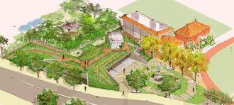 2月現在の施設のイメージ図(那覇市提供)