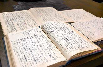 ときわ座の興行の様子などがつづられている真喜志康忠さんの日記