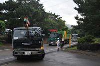 自衛隊予定地に工事車両 石垣島 「配備ありき」と市民反発