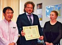 「沖縄の文化伝えたい」 ウチナー民間大使にロシア空手家・マイストロヴォイ氏