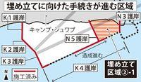 辺野古8月に土砂投入 サンゴ保全策で遅れ 政府、県に通知へ
