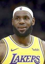 NBAレーカーズのレブロン・ジェームズ選手(ゲッティ=共同)