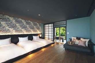 星のや沖縄の寝室(星野リゾート提供)