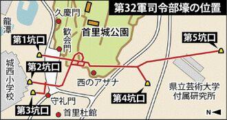 第32軍司令部壕の位置