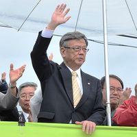 辺野古で「なまからるやんどー」 沖縄・翁長知事、闘う宣言