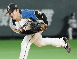 オリックス戦に先発した日本ハム・吉田輝=札幌ドーム