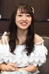 「沖縄の皆さんにAKB48を好きになってほしい」と呼びかける向井地美音さん