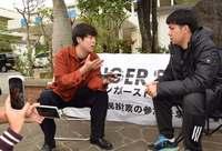 ウーマン村本さん「沖縄のこと知ってほしい」 ハンストの元山さんを取材【動画】