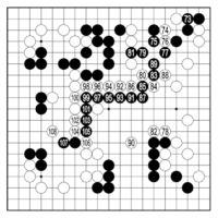 [第38回・少年少女囲碁大会]/県代表 決定戦 中学生の部/第4譜/(73〜108)