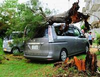 台風22号:沖縄を直撃 8人けが、9750戸が一時停電