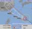 9日午前6時現在の台風8号の進路予想図(気象庁HPから)