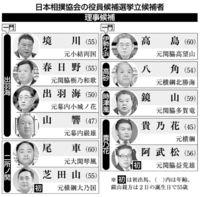 [大相撲]/貴乃花親方ら立候補/相撲協会 きょう理事候補選
