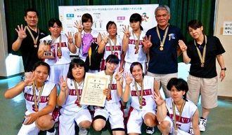 九州予戦で4連覇を達成した女子バスケットボールの県代表