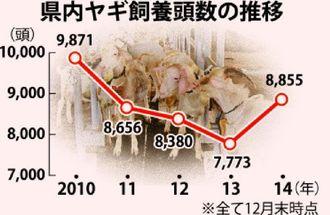 県内ヤギ飼養頭数の推移
