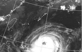 台風21号の衛星画像(9月26日午前7時30分現在、気象庁HPから)