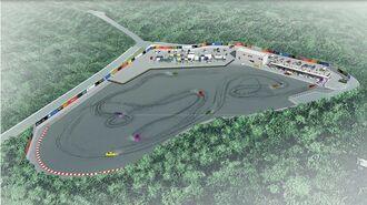 (資料写真)沖縄市が進めるサーキット場「モータースポーツ多目的広場」の整備イメージ図(沖縄市提供)