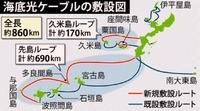 海底光ケーブルが開通、離島結ぶ 沖縄県 通信速度20倍・災害時も安定
