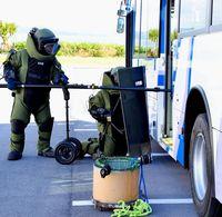 爆弾テロ想定 名護署が訓練/一連の流れ確認