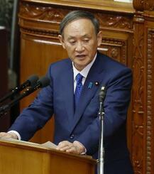衆院本会議で答弁する菅首相=29日午後