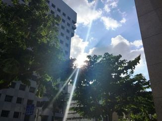 (資料写真)暑い=8月18日、那覇市内