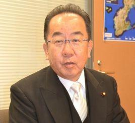 経済産業副大臣に就任した西銘恒三郎衆院議員=7日、衆院議員会館