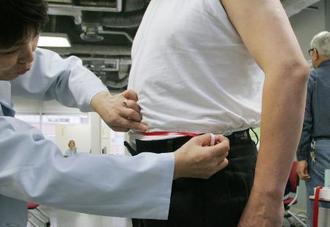 メタボの可能性を調べる腹囲測定